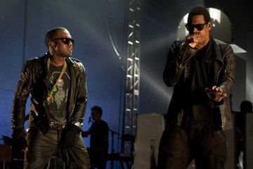 Kanye West and Jay-Z perform during VEVO Presents: G.O.O.D. Music at VEVO Power Station on March 19, 2011 in Austin, Texas.