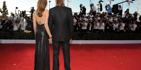 Brad Angelina at 18th SAG by Jordan Strauss of WIREIMAGE