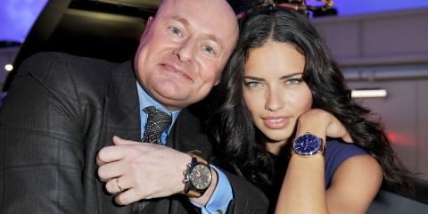 IWC_Top_Gun_ Georges Kern and model Adriana Lima