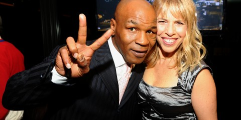 mike tyson and marjorie kaplan of animal planet by  Jamie McCarthy