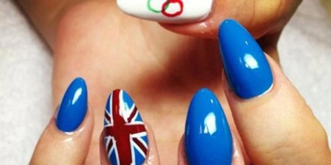 Spirit Fingers Olympic Nail Art
