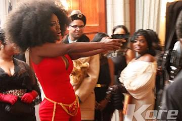 Kenya Moore Pulls Gun at Costume Gala