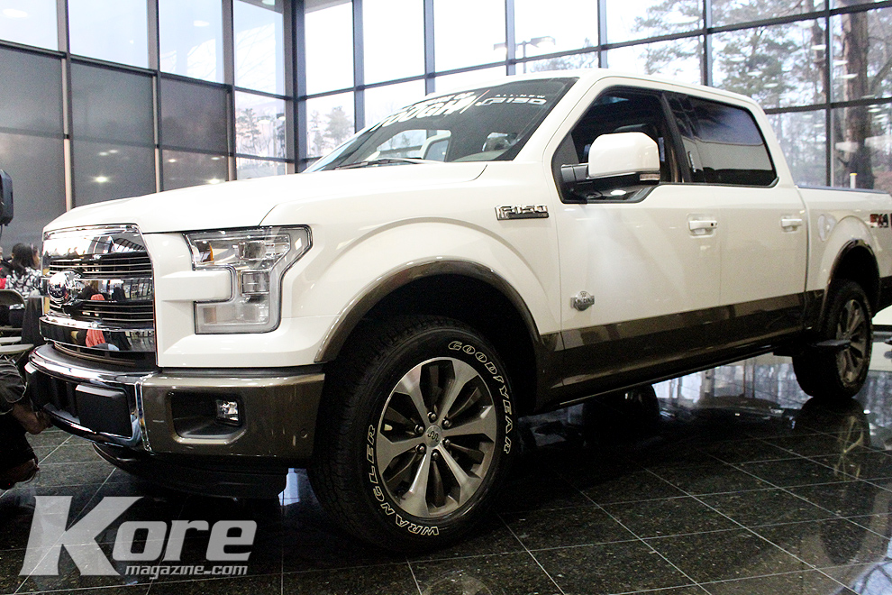 ford redefines the future of trucks with new 2015 f 150. Black Bedroom Furniture Sets. Home Design Ideas