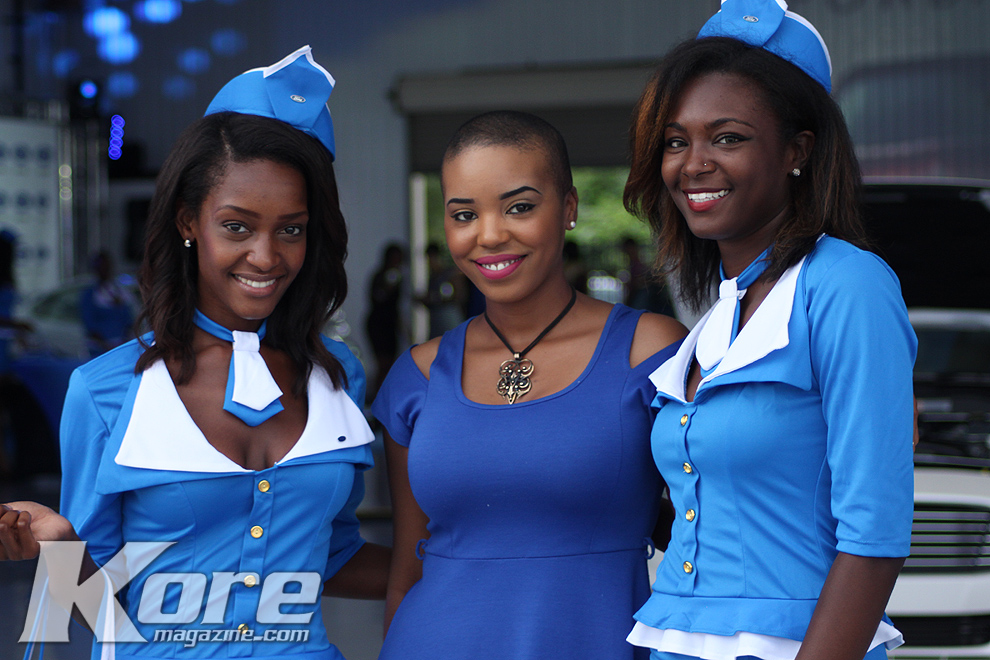 Welcomed by the Ford Blue Flight Attendants