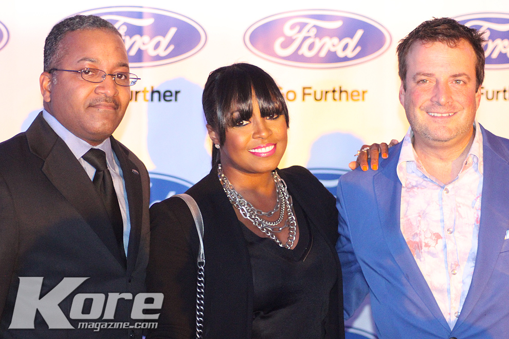 KP Smith, Keshia Knight-Pulliam, and Ford Sales Manager Tim