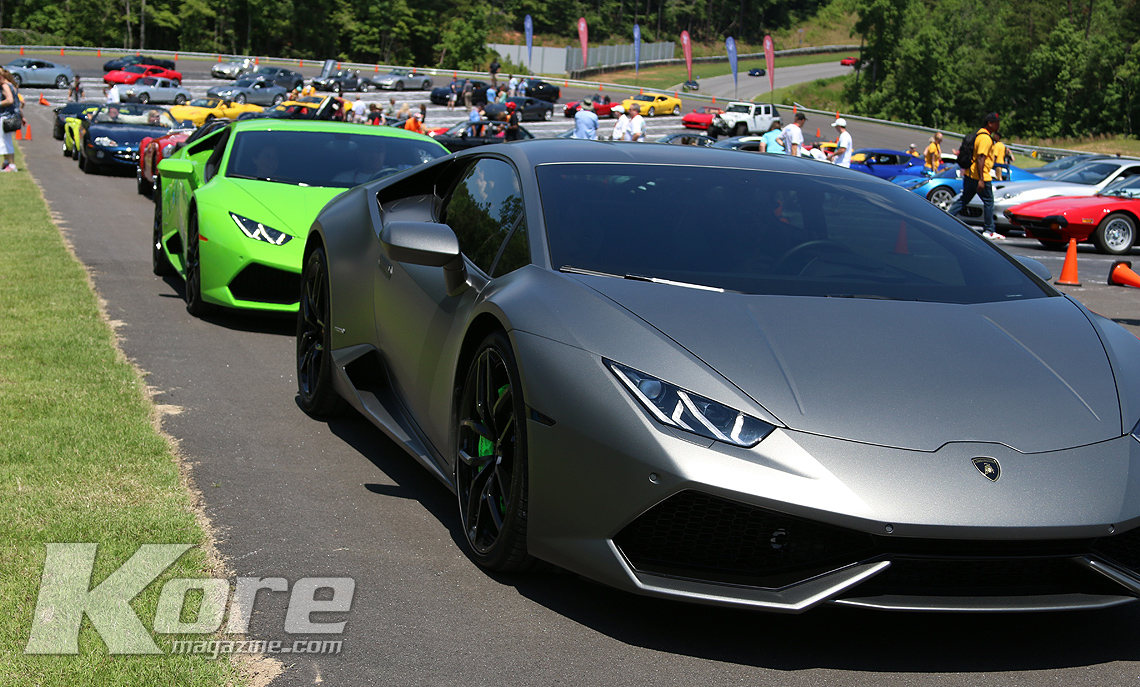 Lambo Line Up - Kore Magazine Rides to Remember